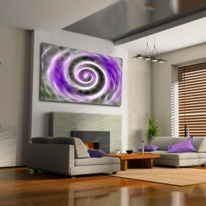 obraz lawendowy abstrakcja