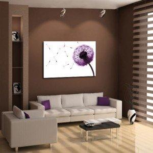 obraz lawendowy dmuchawiec - Obrazy lawenda, obrazy z lawendą