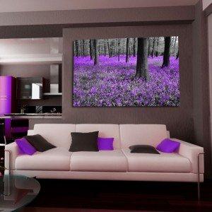obraz lawendowy fioletowy las