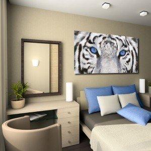 obraz tygrys z niebieskim akcentem