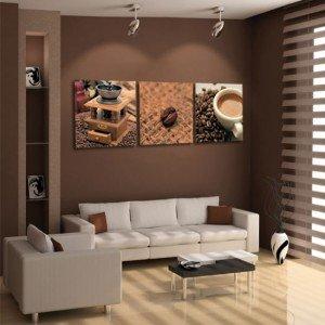 Obrazy z kawą - tryptyk kawowy