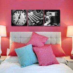 tryptyk zegar, mszyna i aparat