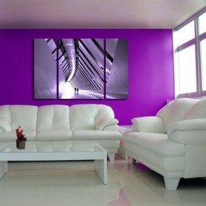 tryptyk fioletowy korytarz