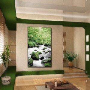 Obraz klasyczny potok w lesie - obrazy klasyczne