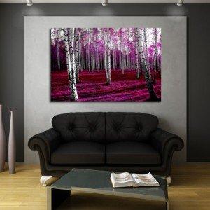 obraz klasyczny amarantowy las