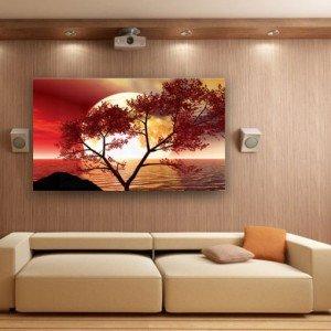 obraz romantyczny czerwone drzewo