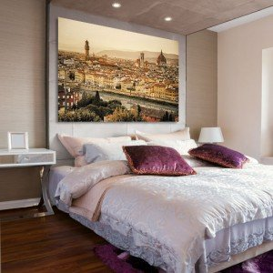 Obraz na płótnie panorama miasta - ozdoby Florencją