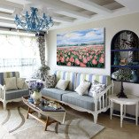 dekoracja do salonu tulipany