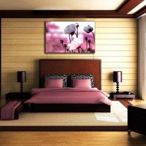 obraz różowe maki