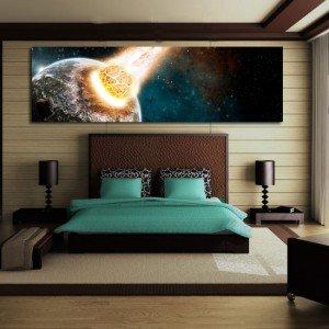 Obrazy z kosmosem i planetami - naklejka kosmos