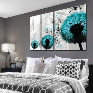Jak zaaranżować sypialnie obrazami - dekoracje z roślinami