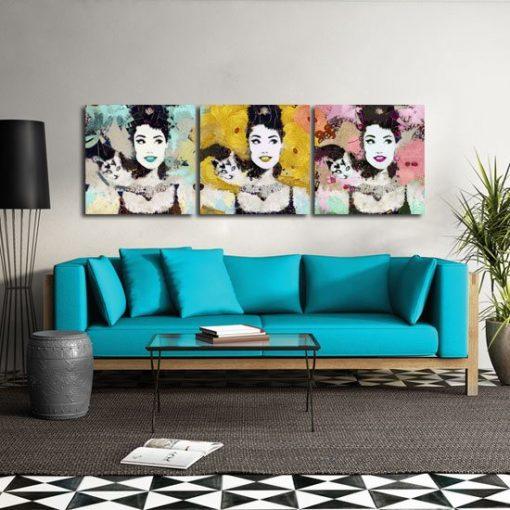 dekoracja z portretami
