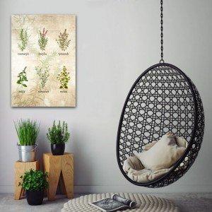 dekoracja z ziołami