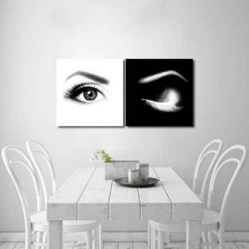 podwójny obraz z oczami