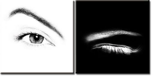 dyptyk z oczami