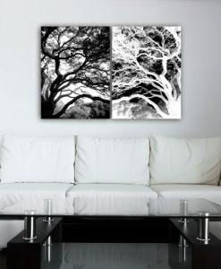 dyptyk z drzewem