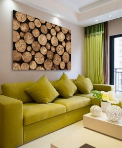 obrazy z drewnianymi palami
