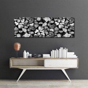 Obraz panoramiczny - ozdoby z drewnem