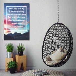 Obraz z cytatem - cytaty na obrazach - dekoracje z zachodem słońca