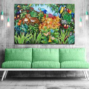obraz jak malowany tropikalny krajobraz