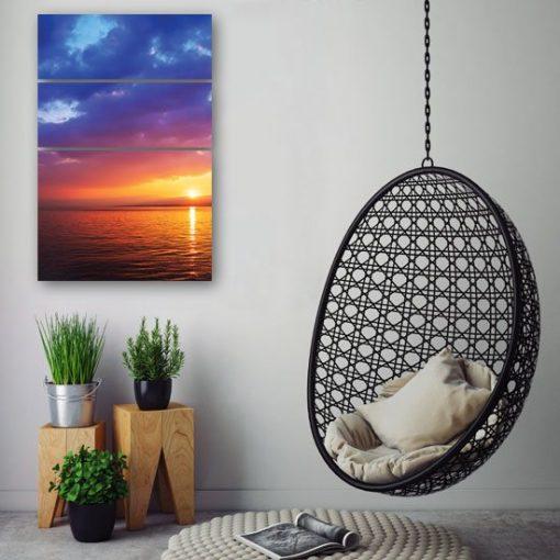 dekoracje z zachodem słońca