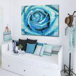 obraz turkusowa róża