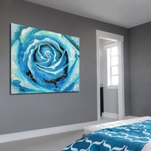 róża na obrazie