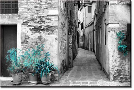 obrazy z zaułkami w mieście