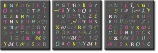 tryptyki z typografią