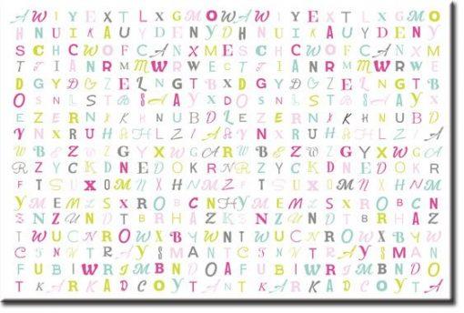 obrazy z literami