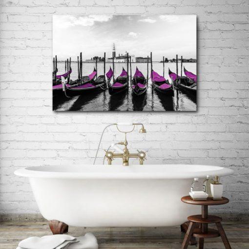 obrazy z łódkami