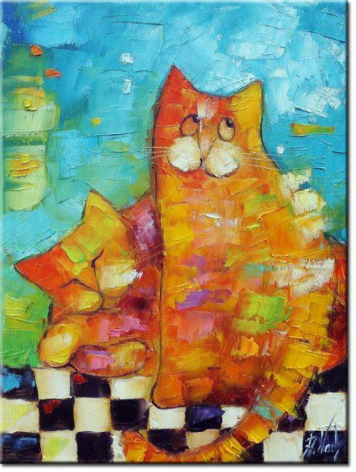 obraz jak malowany z kotami