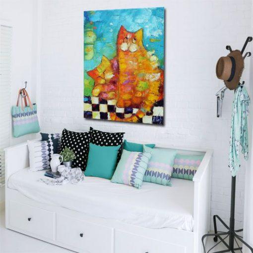 kolorowe dekoracje na ściany