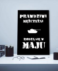 plakat z czołgiem i napisem
