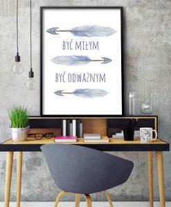 plakat ze strzałami