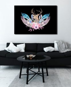 grafika na ścianie w pokoju