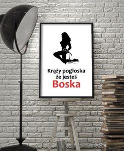 obraz z modnym hasłem