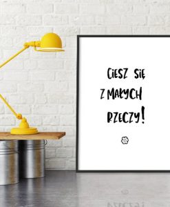 obraz z typografią
