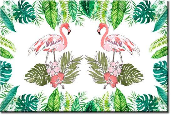 Genialny Obraz Z Motywem Tropikalnych Ptaków Oraz Liści