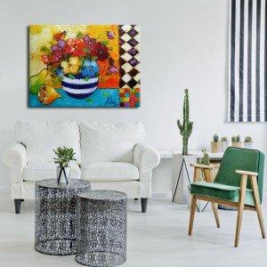Obrazy do pokoju kolorowe kwiaty