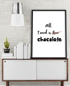 obraz z mottem o czekoladzie