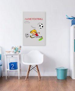 obrazy z piłkarzem