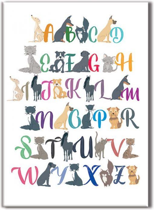 obrazy z alfabetem