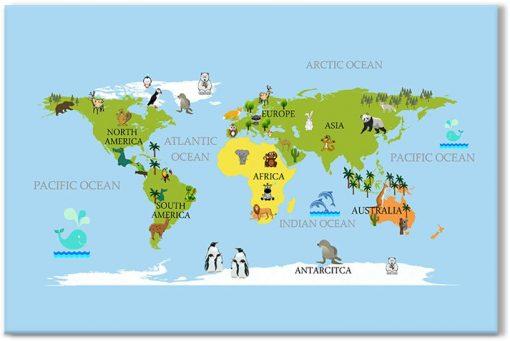 obrazy z mapami świata