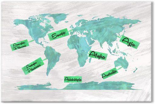 obrazy z mapą