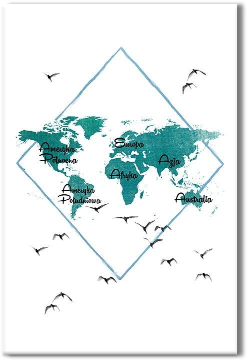 obrazy z kontynentami