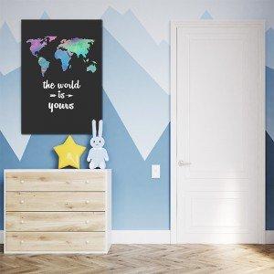 Obrazy z mapami do pokoju nastolatka
