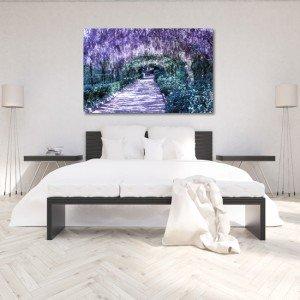 modne ściany w sypialni