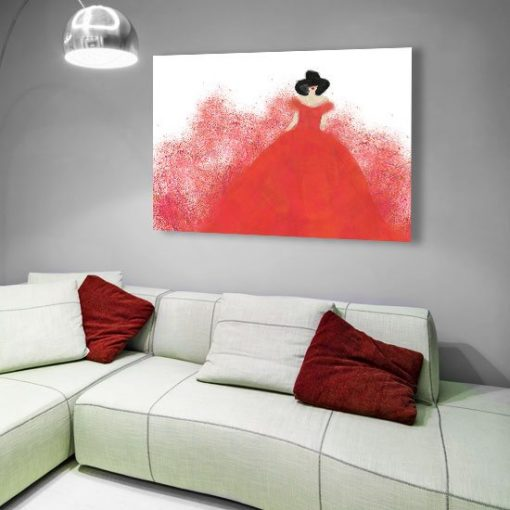 obrazy lady red
