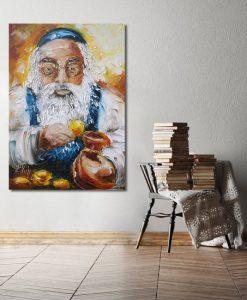 obraz Żyd liczący złoto